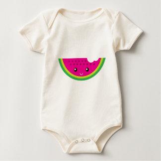 Sandía de Kawaii Mameluco De Bebé
