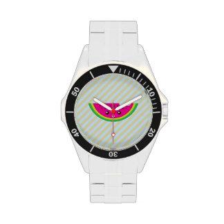 Sandía de Kawaii Reloj