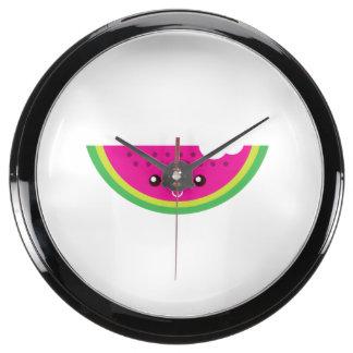 Sandía de Kawaii Reloj Acuario