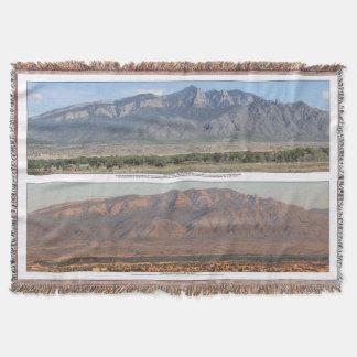 Sandia Mountains at Bernalillo New Mexico Throw Blanket