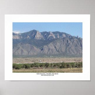 Sandia Mountains Bernalillo Image 1 8.5x11 Poster