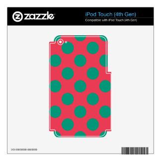 Sandía Polkadot Skins Para iPod Touch 4G
