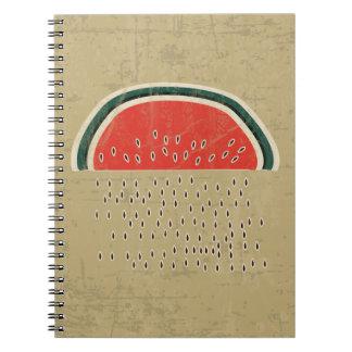 Sandía que llueve las semillas libro de apuntes