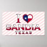 Sandia, Texas Print