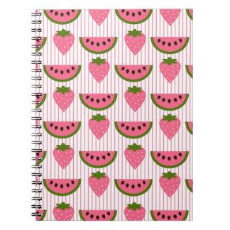 Sandía y fresas note book