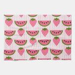 Sandía y fresas toallas de cocina