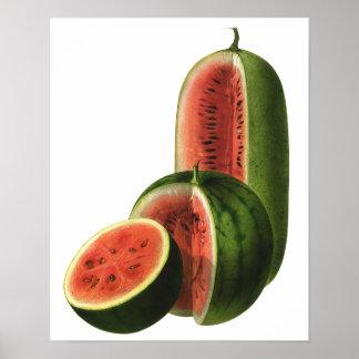 Sandías orgánicas de la fruta de la comida del póster