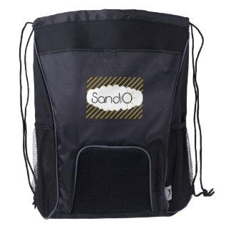 SandiO Blanks Custom Drawstring Backpack, Black Drawstring Backpack