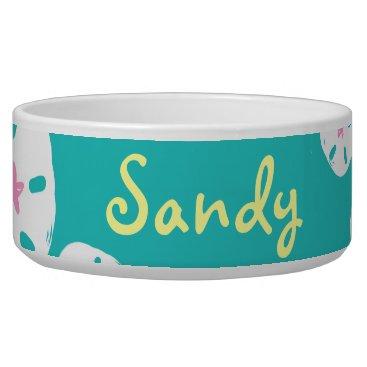 Beach Themed Sandollar Dog Dish