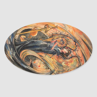 Sandolphon Oval Sticker
