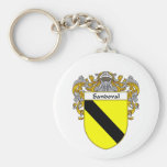 Sandoval Coat of Arms (Mantled) Basic Round Button Keychain