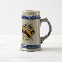 Sandoval Family Crest Beer Stein
