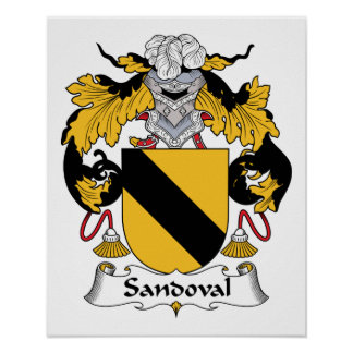 Sandoval Family Crest Posters