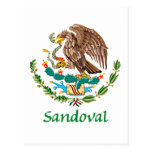 Sandoval Mexican National Seal Post Card