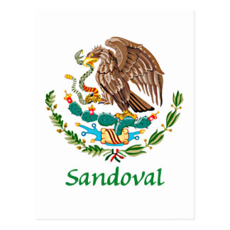 Sandoval Mexican National Seal Postcard