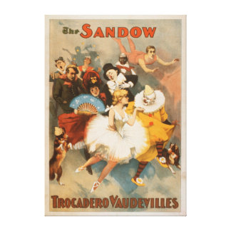 Sandow Trocadero Vaudevilles Carnival Theme Canvas Print