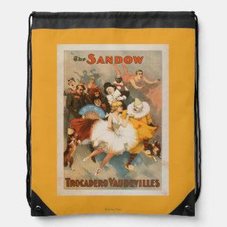 Sandow Trocadero Vaudevilles Carnival Theme Drawstring Backpack