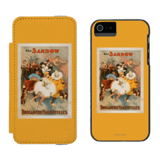 Sandow Trocadero Vaudevilles Carnival Theme iPhone SE/5/5s Wallet Case