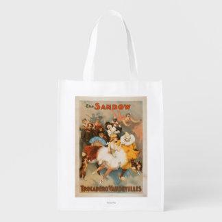 Sandow Trocadero Vaudevilles Carnival Theme Reusable Grocery Bags