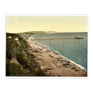 Sandown Bay, Isle of Wight, England rare Photochro Postcard