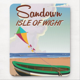 Sandown, Isle of Wight vintage travel poster Mouse Pad