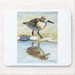 Sandpiper 5, Bird, Ocean, Beach, Nautical, Art Mouse Pad
