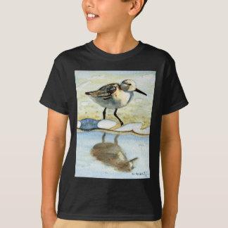 Sandpiper 5, Bird, Ocean, Beach, Nautical, Art T-Shirt