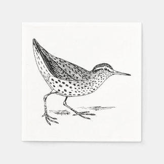 Sandpiper Bird Art Disposable Napkins