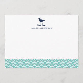 Sandpiper Personalized Stationery Flat Cards