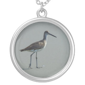 Sandpiper Pose Silver Plated Necklace
