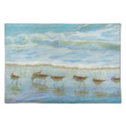 Sandpipers, A Day at the Beach Cloth Placemat