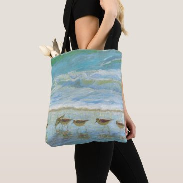 Sandpipers, A Day at the Beach Tote Bag