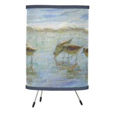 Sandpipers, A Day at the Beach Tripod Lamp