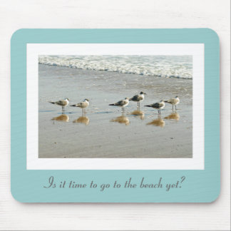 Sandpipers at the ocean's edge mouse pad
