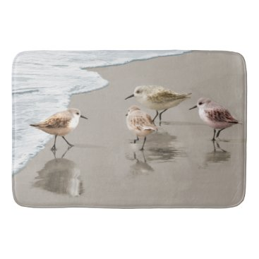 BedBathAndMore Sandpipers at the Shoreline Bathroom Mat