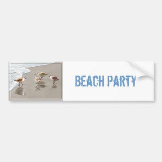 Sandpipers at the Shoreline Bumper Sticker
