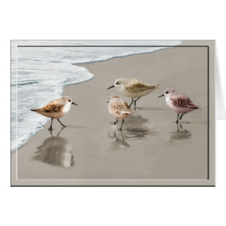 Sandpipers at the Shoreline Greeting Card