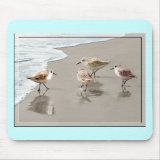 Sandpipers at the Shoreline Mouse Pad