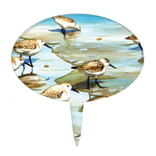 Sandpipers Cake Topper