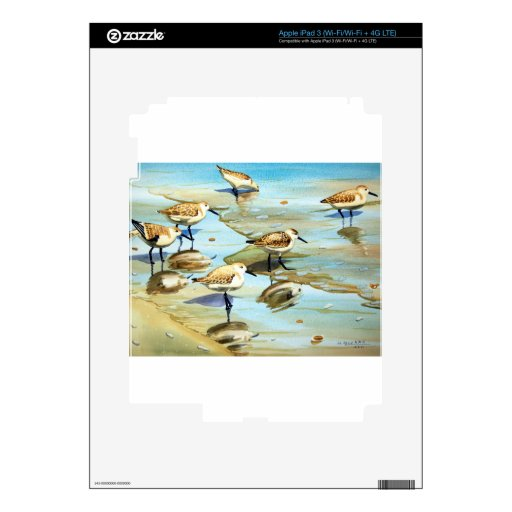Sandpipers Decal For iPad 3