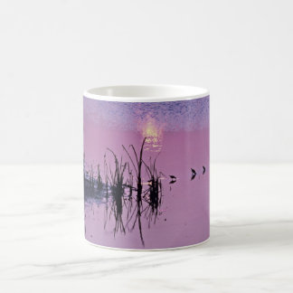 Sandpipers in the sunset classic white coffee mug