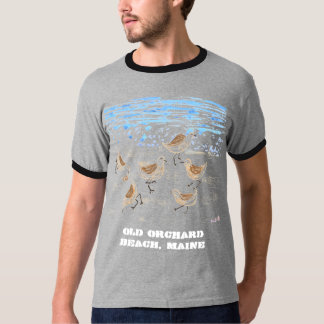 Sandpipers on Old Orchard Beach, Maine T-Shirt