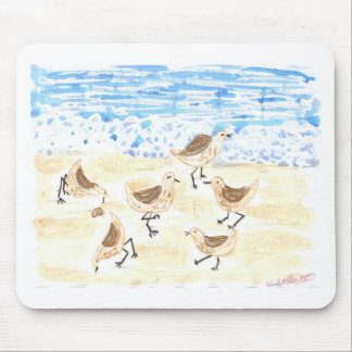 Sandpipers on Old Orchard Beach Mouse Pad
