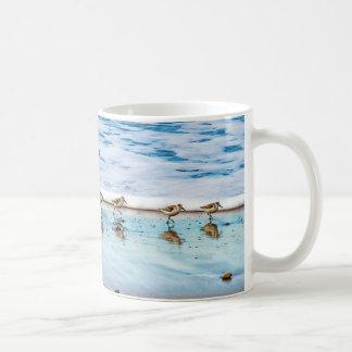 Sandpipers Running Along The Beach Coffee Mug