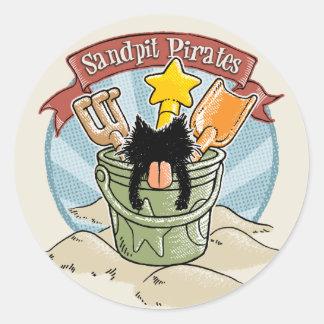 Sandpit Pirates Classic Round Sticker