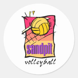 Sandpit Volleyball Classic Round Sticker