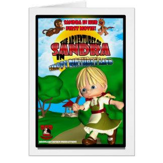 Sandra Birthday Card DVD box spoof