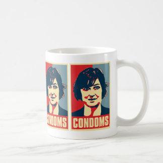 """Sandra Fluke """"Condoms"""" Mug"""