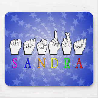 SANDRA NAME SIGN FINGERSPELLED ASL MOUSE PAD