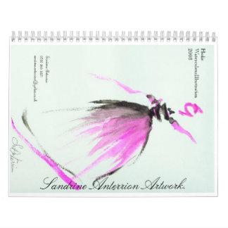 Sandrine Anterrion Artwork 2010 Calendar